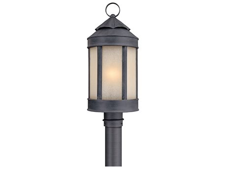 Troy Lighting Andersons Forge Antique Iron 9'' Wide Outdoor Post Light