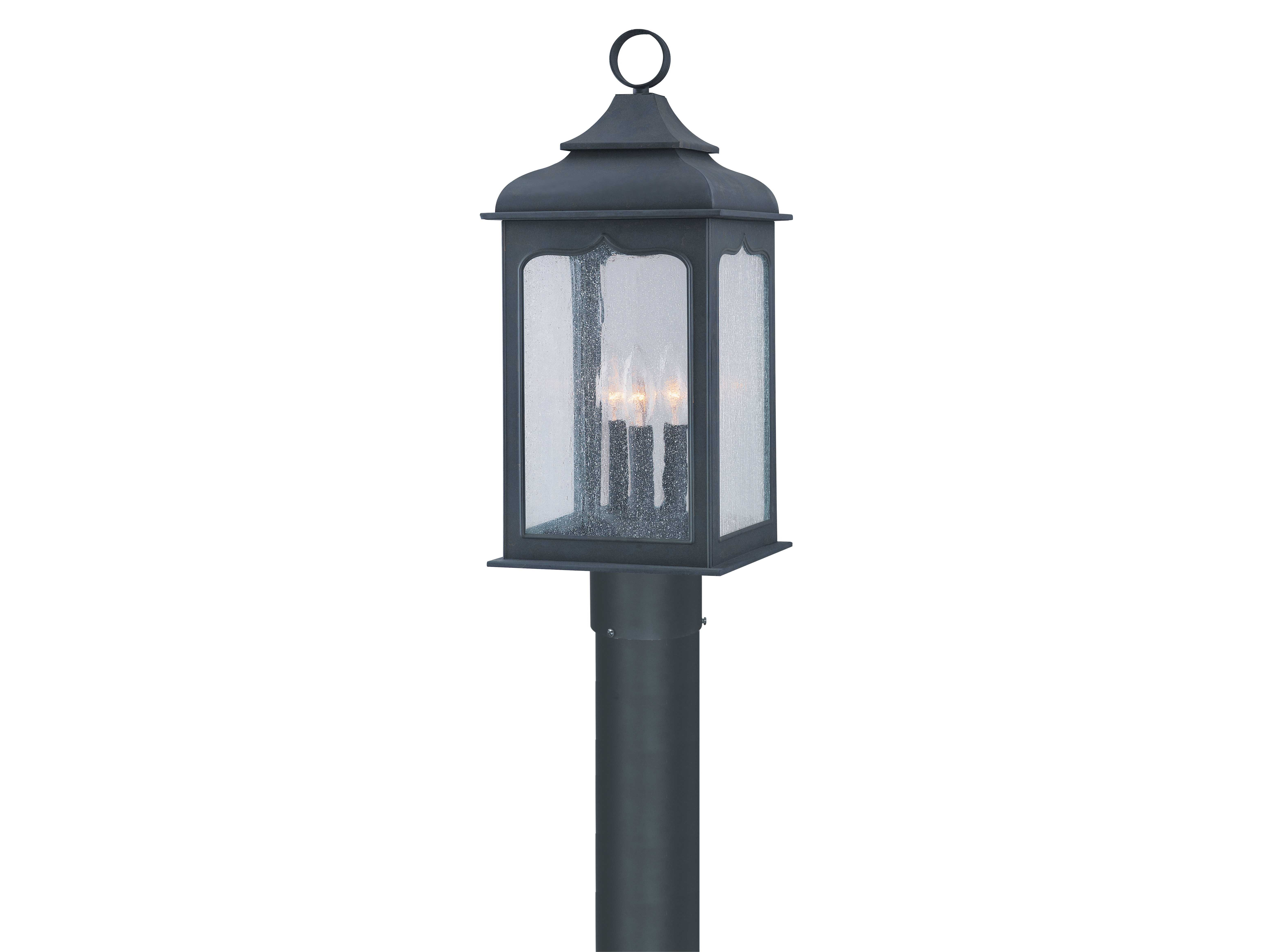 Troy Lighting Henry Street Colonial Iron Three Light