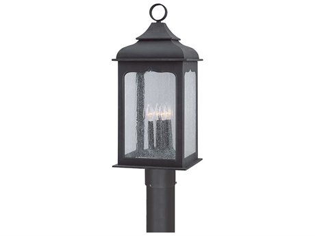 Troy Lighting Henry Street Colonial Iron Four-Light 11'' Wide Outdoor Post Light
