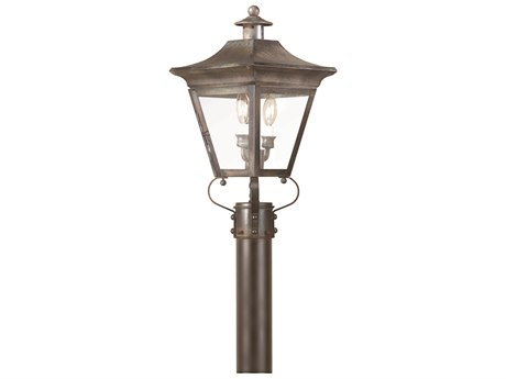 Troy Lighting Oxford Two-Light 10'' Wide Outdoor Post Light