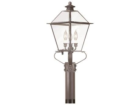 Troy Lighting Montgomery Three-Light 10'' Wide Outdoor Post Light