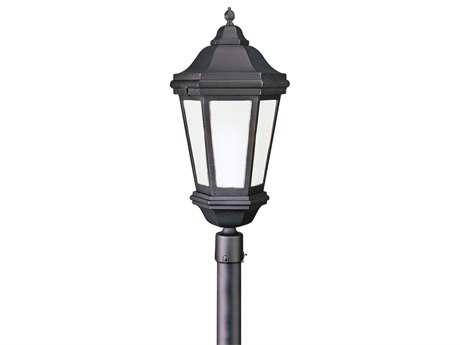 Troy Lighting Verona Matte Black Three-Light Fluorescent Outdoor Post Light