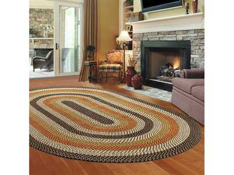 Thorndike Mills Green Mountain Log Cabin Brown Area Rug
