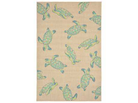 Trans Ocean Rugs Playa Sea Turtles Rectangular Natural Area Rug