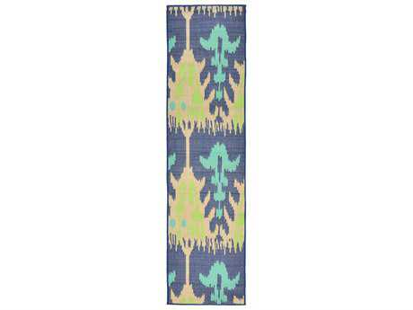 Trans Ocean Rugs Playa Ikat 2'11'' x 7'6'' Rectangular Blue Runner Rug