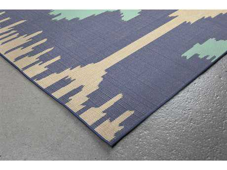 Trans Ocean Rugs Playa Ikat 7'10'' Square Blue Area Rug