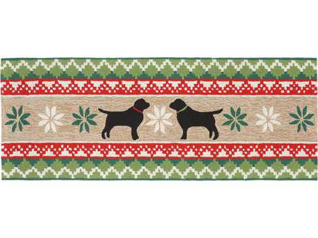 Trans Ocean Rugs Frontporch Nordic Dogs 2'3'' x 6' Rectangular Natural Runner Rug