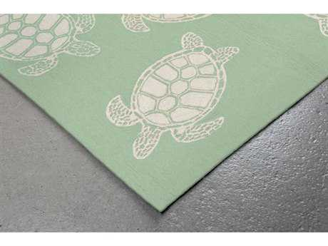 Trans Ocean Rugs Capri Turtle Rectangular Green Area Rug