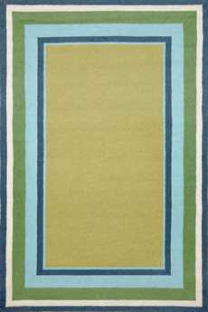 Trans Ocean Rugs Newport Seaside Rectangular Sage Area Rug
