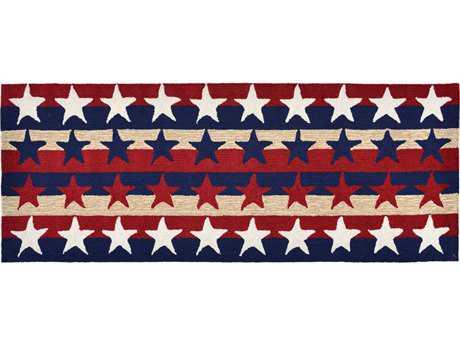 Trans Ocean Rugs Frontporch Stars & Stripes 2'3'' x 6' Rectangular Red Runner Rug