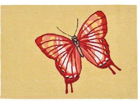Trans Ocean Rugs Frontporch Butterfly 2'6'' x 4' Rectangular Red Area Rug