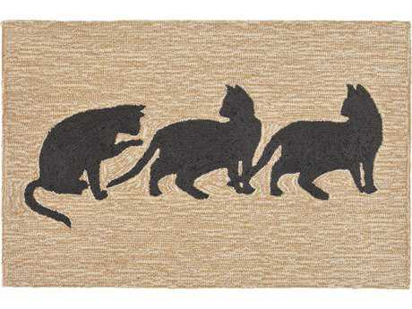 Trans Ocean Rugs Frontporch Cats 2'6'' x 4' Rectangular Natural Area Rug