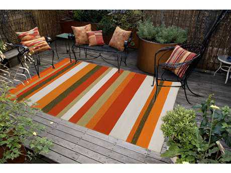 Trans Ocean Rugs Ravella Rectangular Orange Area Rug