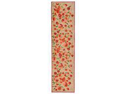 Trans Ocean Rugs Ravella Poppies 2' x 8' Rectangular Red Runner Rug
