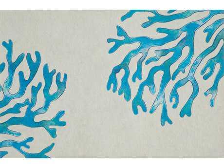 Trans Ocean Rugs Visions II 1'6'' x 2'5.5'' Rectangular Blue Area Rug