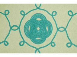 Trans Ocean Rugs Visions III 1'6'' x 2'5.5'' Rectangular Aqua Area Rug
