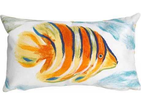 Trans Ocean Rugs Visions III Angel Fish Orange Indoor / Outdoor Pillow