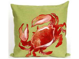 Trans Ocean Rugs Visions II Crab Red Indoor / Outdoor Pillow