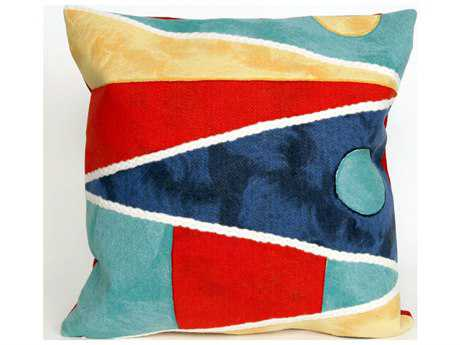 Trans Ocean Rugs Visions II Flags Navy Indoor / Outdoor Pillow