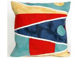 Trans Ocean Rugs Visions II Flags Navy Indoor / Outdoor Pillow