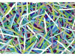 Trans Ocean Rugs Visions III 1'6'' x 2'5.5'' Rectangular Blue Area Rug