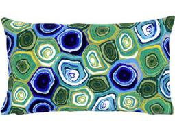 Trans Ocean Rugs Visions III Murano Swirl Green Indoor / Outdoor Pillow