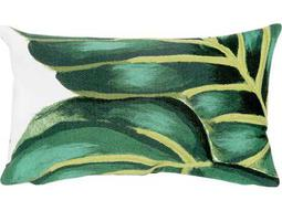 Trans Ocean Rugs Visions III Banana Leaf Green Indoor / Outdoor Pillow