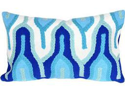 Trans Ocean Rugs Visions III Crochet Tower Blue Indoor / Outdoor Pillow