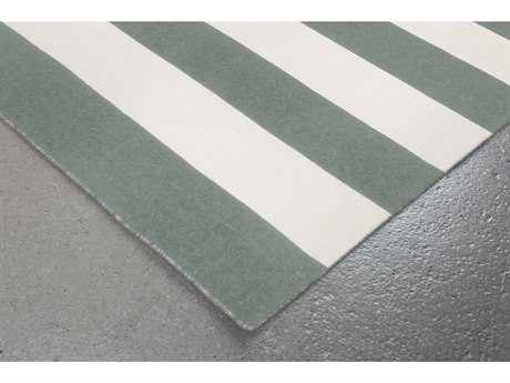 Trans Ocean Rugs Sorrento Rugby Stripe 8' Square Grey Area Rug