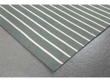 Trans Ocean Rugs Sorrento Pinstripe 8' Square Grey Area Rug