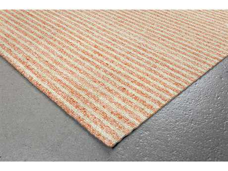 Trans Ocean Rugs Wooster Stripes Rectangular Orange Area Rug