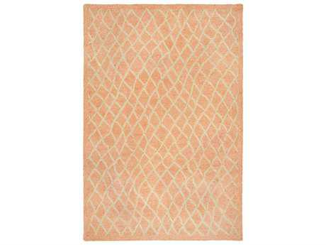 Trans Ocean Rugs Wooster Twist Rectangular Orange Area Rug