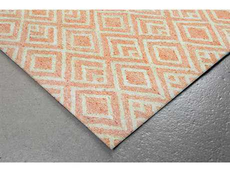 Trans Ocean Rugs Wooster Kuba Rectangular Orange Area Rug