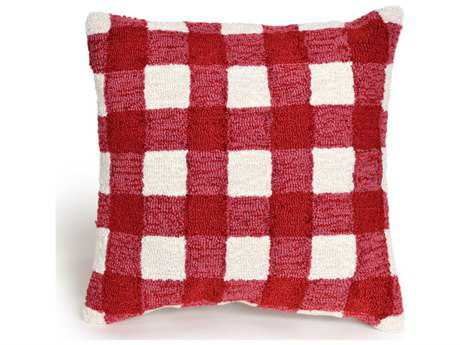 Trans Ocean Rugs Frontporch Gingham Red Indoor / Outdoor Pillow