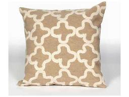 Trans Ocean Rugs Visions II Crochet Tile Camel Indoor / Outdoor Pillow