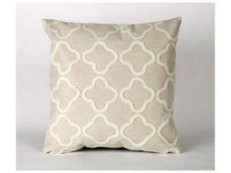 Trans Ocean Rugs Visions II Crochet Tile Ivory Indoor / Outdoor Pillow