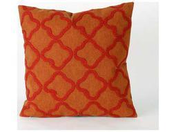 Trans Ocean Rugs Visions II Crochet Tile Orange Indoor / Outdoor Pillow