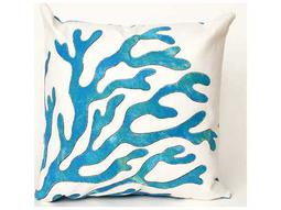 Trans Ocean Rugs Visions II Coral Blue Indoor / Outdoor Pillow