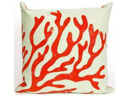 Trans Ocean Rugs Visions II Coral Red Indoor / Outdoor Pillow