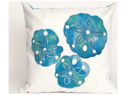 Trans Ocean Rugs Visions II Sand Dollar Blue Indoor / Outdoor Pillow
