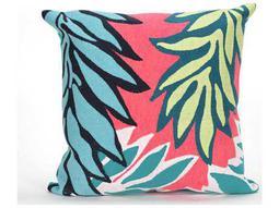 Trans Ocean Rugs Visions II Tropic Leaf Pink Indoor / Outdoor Pillow