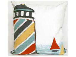 Trans Ocean Rugs Visions II Lighthouse White Indoor / Outdoor Pillow