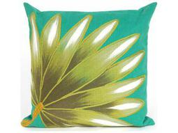 Trans Ocean Rugs Visions II Palm Fan Blue Indoor / Outdoor Pillow