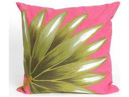 Trans Ocean Rugs Visions II Palm Fan Pink Indoor / Outdoor Pillow