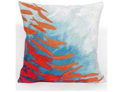 Trans Ocean Rugs Visions II School Of Fish Aqua  Indoor / Outdoor Pillow
