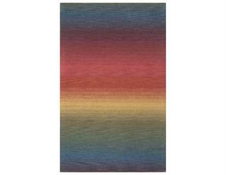 Trans Ocean Rugs Ombre Rectangular Red Area Rug