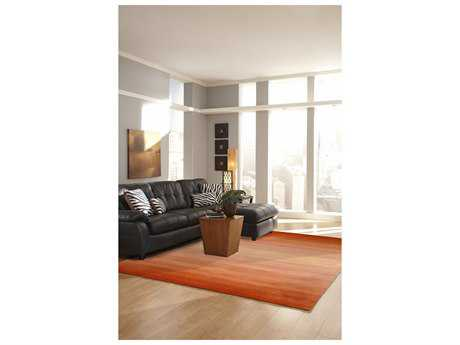 Trans Ocean Rugs Ombre Rectangular Orange Area Rug