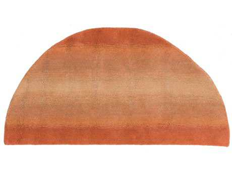 Trans Ocean Rugs Ombre Horizon 2' x 4' Half Moon Orange Area Rug