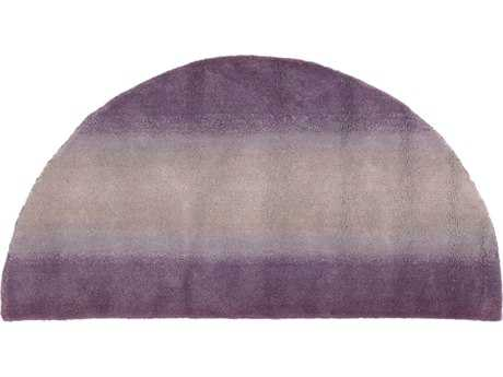 Trans Ocean Rugs Ombre Horizon 2' x 4' Half Moon Purple Area Rug