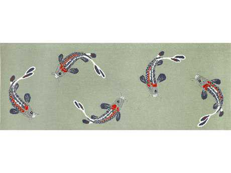 Trans Ocean Rugs Frontporch 2'3'' x 6' Rectangular Aqua Runner Rug